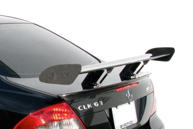 Mercedes E320 CDI (2003-2009) - RENNtech Carbon Fibre Adjustable DTM Style Rear Spoiler