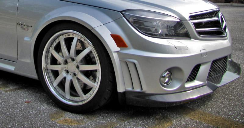 Mercedes C63 AMG (2012-2014) - RENNtech Carbon Fibre Front Widebody Conversion Kit